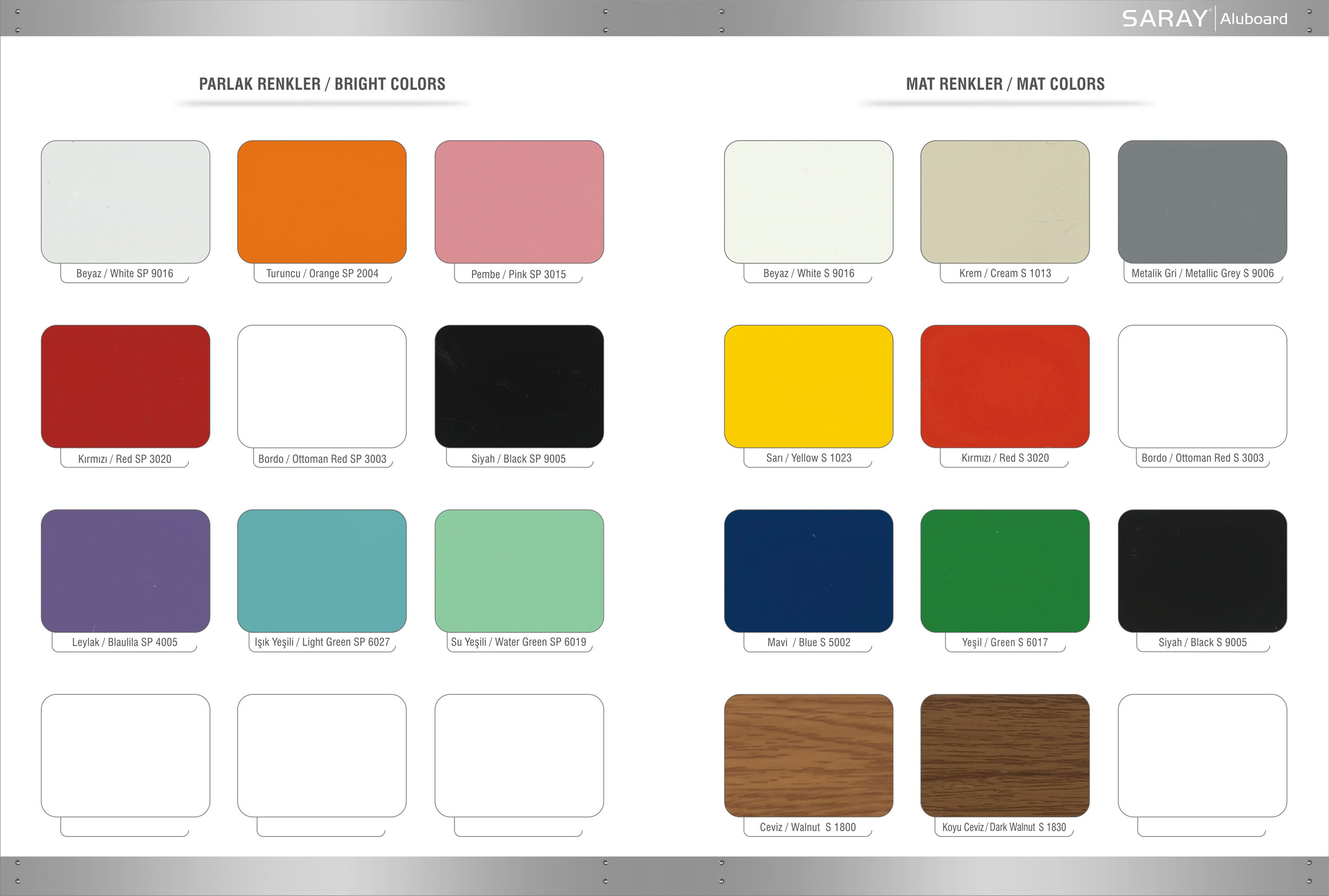 Signboard panel color chart saray dkm ve madeni aksam sanayi signboard panel color chart nvjuhfo Image collections